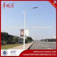 Poste de luz de rua de aço tubular galvanizado