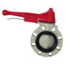 PVDF Válvula Borboleta, Válvula Borboleta Plástica, Válvula Termoplástica