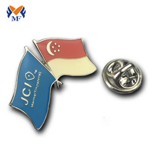 Country national flag custom epoxy pin badge