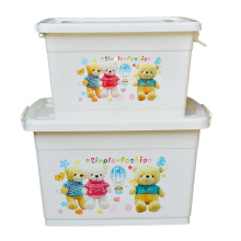 Cartoon Plastic Storage Container Box for Household Storage (SLSN046)