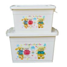 Cartoon Plastic Storage Container Box für Haushalt Lagerung (SLSN046)