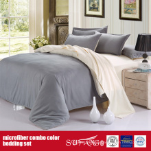 Luxus Solid Color Komfortable Combo Microfaser Blatt Set