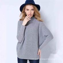 mais recente estilo inverno solto estilo mole moleira feminina 100% camisola de caxemira
