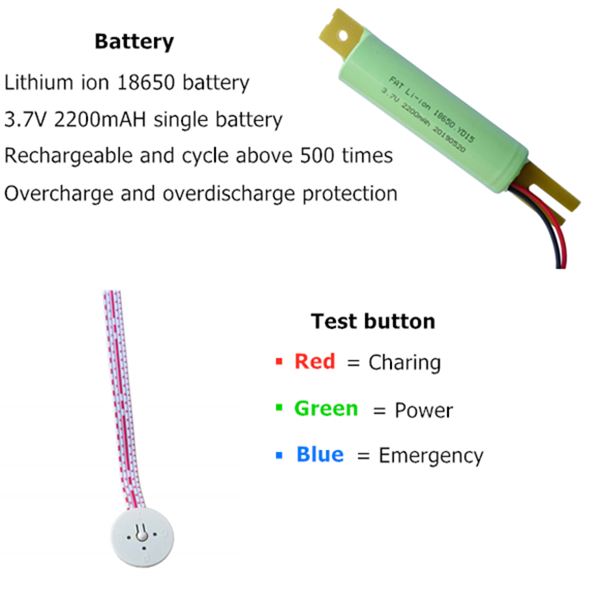 led emergency battery backup