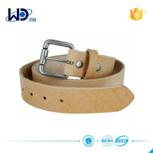 Natural Finish Full Grain Leather belt with roller buckle