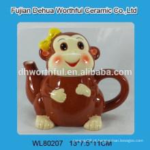 Bule de cerâmica promocional em forma de macaco