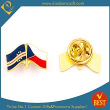 Tschechische Flagge Pin Abzeichen mit Schmetterling Kupplung Überzug Gold