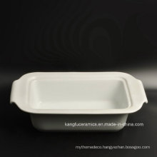 Cheap Simple White Glazed Porcelain Plate