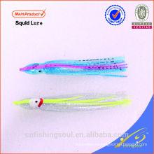 SLL073 señuelo de la pesca de plástico suave falda de calamar suave