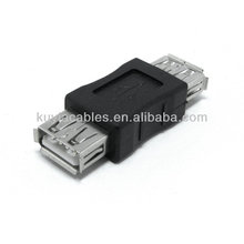 Adaptateur Convertisseur femelle à haute qualité noir USB 2.0 A Adaptateur adaptateur femelle Nouveau