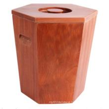 Kitchen Tool Wooden Rice Storage Bucket