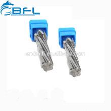 Escariadores de flauta recta de carburo BFL, escariadores de carburo sólido para orificio de perforación