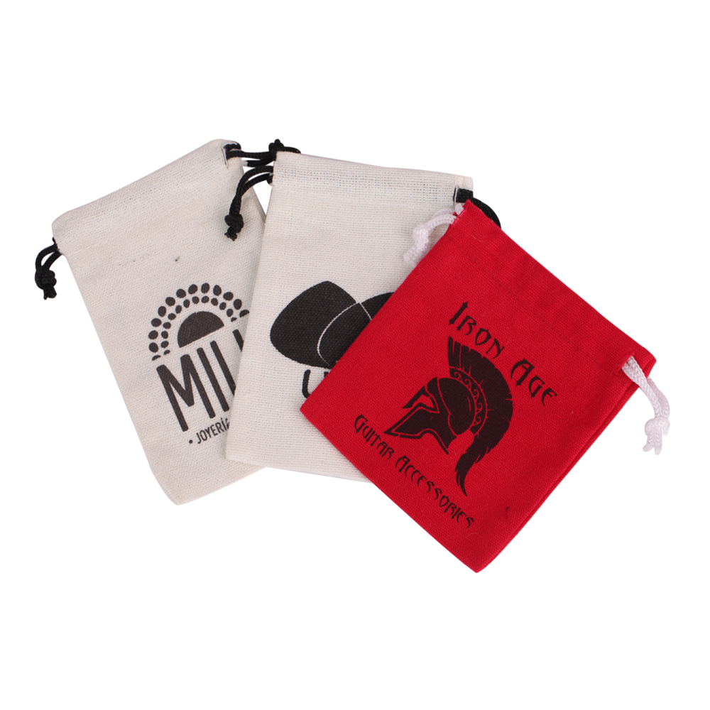 Print Logo Cotton Drawstring Gift Bag