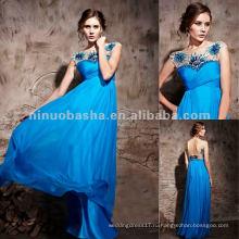 Нью-Йорк-2531 пляж Сапфир синий длинные формальные вечернее платье