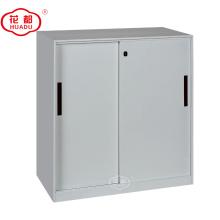 Half height three shelves aisle metal sliding door steel filing storage cabinets