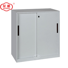 Meios três armários de armazenamento de aço do arquivamento da porta deslizante do metal do corredor das prateleiras da altura três