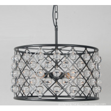 Retro Decorative Round Iron Frame Pendant Lighting with Crystal (GD1098-4)