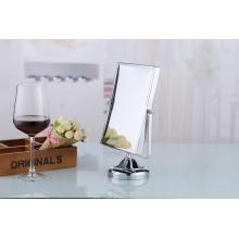 2015 moderne quadratische Metall Schönheit Tischplatte Kosmetikspiegel