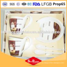 Resistente ao calor caneca de xícara de café e pires conjunto