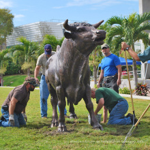 тематический парк открытый бронзовая скульптура большой бык скульптура