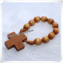 Finger Fing, Wooden Oval Rosary Finger Ring (IO-CE002)