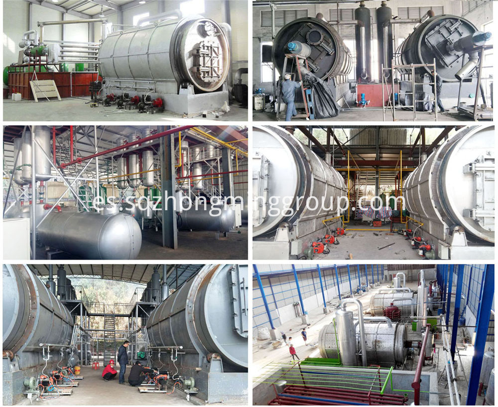 tyre recycling oil plant