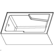 60 х 32 встроенной фартук круглая акриловая ванна с рукояткой