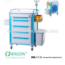 DW-FC001 Chariot de traitement médical d'ABS de premiers soins