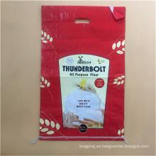 Bolso tejido de arroz laminado PP 25kg