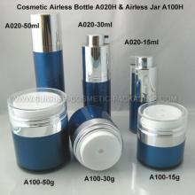 15ml 30ml rond forme bleu flacon Airless cosmétiques pot de 50ml