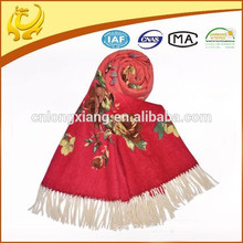 2015 Latest Fashionable 100% Wool Custom Made Latest Scarf Designs For Lady