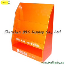 Book Cardboard Display Stand, Counter Display, Table PDQ, Desk Display Shelf, Paper Display Stand (B&C-D030)