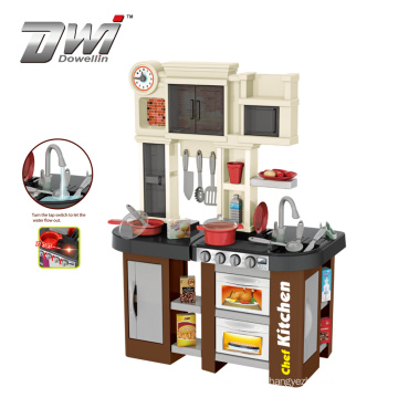 DWI Pretend Play Toy Big Size Plastic Cooking Game Kids Toy Kitchen Set