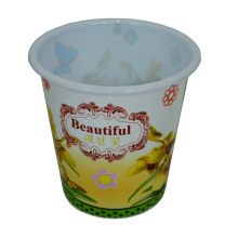 Plastic Rural Style Prited Open Top Dustbin for Home/Kitchen/Office (B06-032-2)