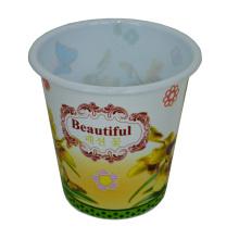 Plastic Rural Style Prited Open Top Dustbin para Casa / Cozinha / Escritório (B06-032-2)