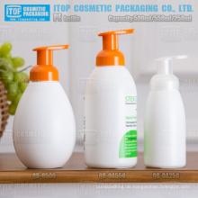 500ml 550ml 250ml Runde Form schäumenden Pumpe Hdpe Hand Soap Dispenser Kunststoff-Flasche