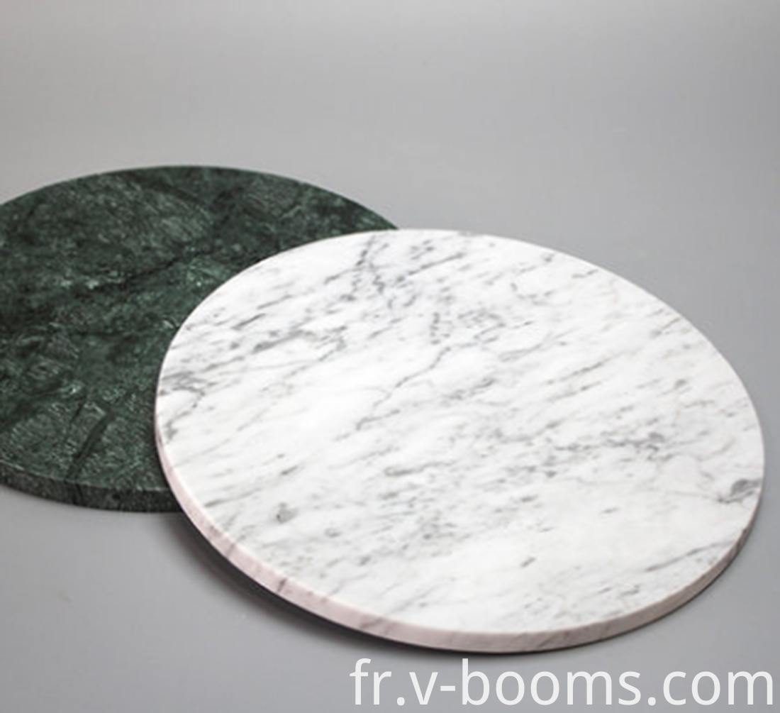 Round Shape Marble Cheese Cutting Board