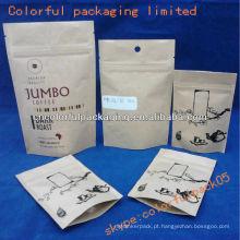 o produto comestível levanta-se malotes / o papel de embalagem levanta-se malotes com zíper
