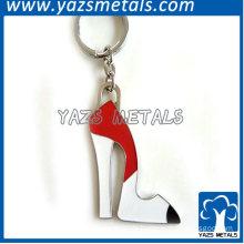 metal high-heeled shoes keychain