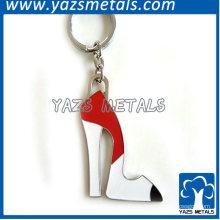 металлические туфли на высоком каблуке брелок