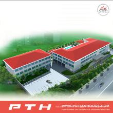 Vorfabriziertes helles Stahlstruktur-Gebäude für Schule / Hotel / Einkaufszentrum