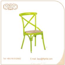 Silla con respaldo X, sillas de cuero Bistro, silla con espalda cruzada