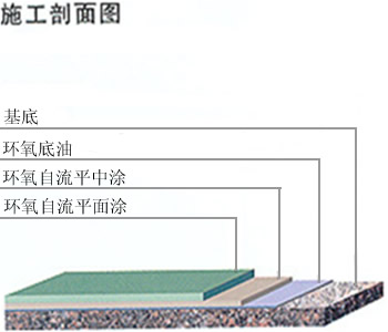 Self-leveling sectional view