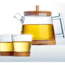 Diseño de moda de cristal de agua pote de té de cristal Set