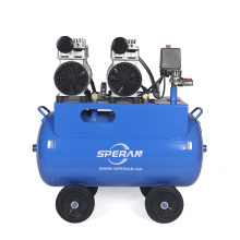 Vente chaude 2 cylindres 3 hp 50 L mobile d'impression spray calme silencieux huile sans compresseur d'air