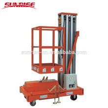 Single Mast Aluminum Aerial Work Platform with Capacity 125 kgs