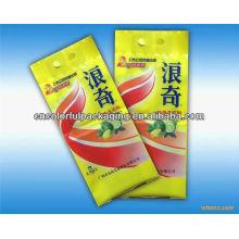 Sacos de empacotamento do detergente azul de furo OPP / PE do furo do encabeçamento do filme de Easyolve com impressão personalizada