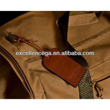Real leather luggage tag