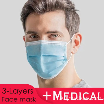 Masque facial Meducal pour la protection contre la grippe