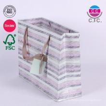 Benutzerdefinierte hochwertige Papier Geschenk Einkaufstasche Falten